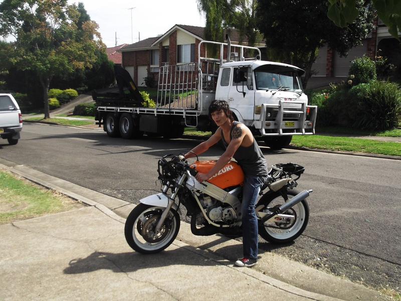 Daniles first race bike